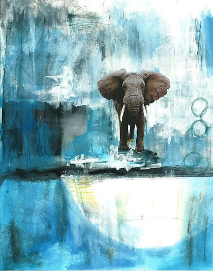 Blue Elephant by rbj7321