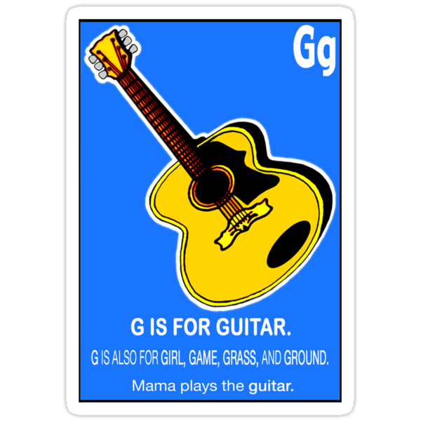 G IS FOR GUITAR by SOL  SKETCHES™