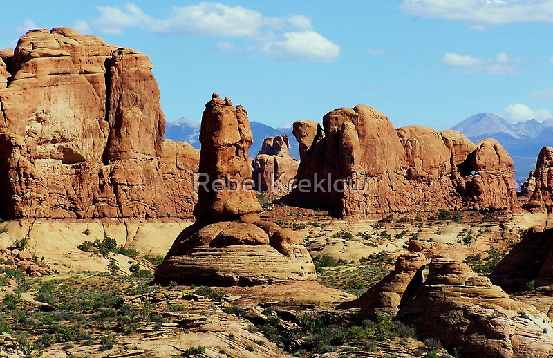 Garden Of Eden View Arches National Park Grand County Ut By Rebel Kreklow Redbubble