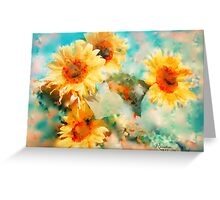 Sunflowers SUPPORT JAPAN EARTHQUAKE AND TSUNAMI RELIEF Greeting Card