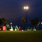 The Buoys Light Up by Ian Creek