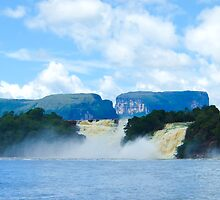 Waterfalls, Canaima Lagoon by Tim Topping
