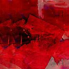 Red Abstract Painting by madeinatlantis