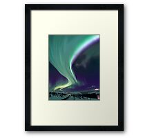 Aurora Borealis by the road Framed Print