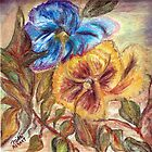 Pastel Pansies by Mikki Alhart