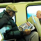 Men on a train  by Jeff Stroud