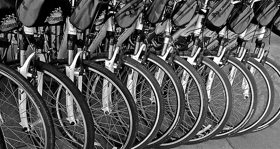 North Beach Bikes, San Francisco, California by Scott Johnson