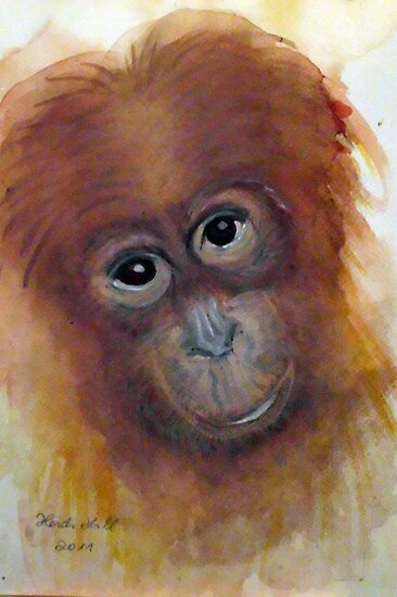 ORANGUTAN  CHILD by Heidi Mooney-Hill