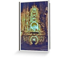 Strasbourg Cathedral Astronomic Clock Greeting Card