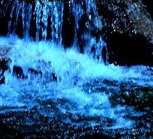PALM SPRINGS WATERFALL AT NIGHT by Sherri     Nicholas