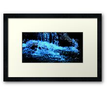 PALM SPRINGS WATERFALL AT NIGHT Framed Print