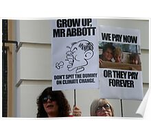 Grow up Mr Abbott Poster