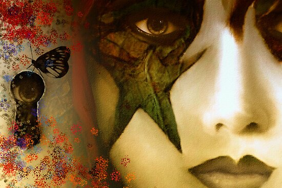 Secrets of My Soul You Will Never Understand...angry red, passion blue, but mostly shades of green by Carmen Holly