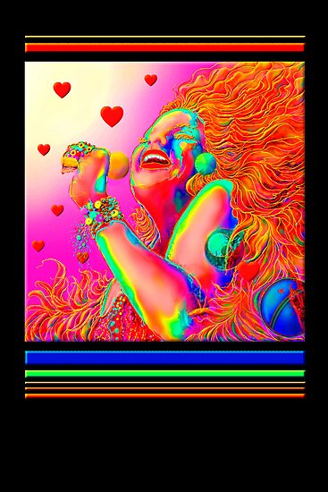 Greeting Card, Sixties Rock Singer  by luvapples downunder/ Norval Arbogast