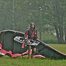 Man In the Rain . Handsome  Viking kitesurfer in action . by Brown Sugar. F* Views (410) favorited by (1) thank you very much ! by AndGoszcz