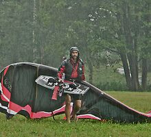 Man In the Rain . Handsome  Viking kitesurfer in action . by Brown Sugar. F* Views (410) favorited by (1) thank you very much ! by © Andrzej Goszcz,M.D. Ph.D