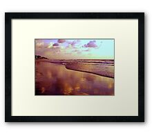 Clouds In The Sand Framed Print
