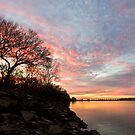 Arkansas River at Sunset by Mitchell Tillison