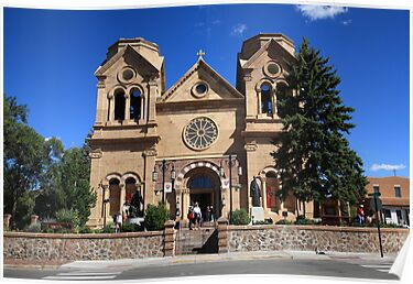 Santa Fe - Basilica of St. Francis of Assisi by Frank Romeo