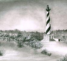 Cape Hatteras Lighthouse by Debbie  Adams