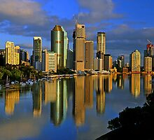 Brisbane River and City at dawn. Queensland, Australia.(7) by Ralph de Zilva