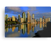 Brisbane River and City at dawn. Queensland, Australia.(7) Metal Print