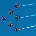 RAAF Roulettes in Wedge Formation - Avalon 2011 by Bev Pascoe