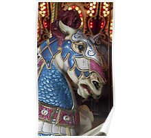 Unicorn warrior carousel horse Poster
