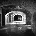 Fort Delaware by searchlight