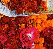 Marigolds and Roses, Pushkar by nekineko