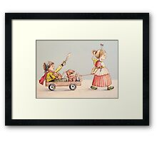 Super Pirate and the Fairy Princess Framed Print