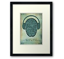 I love music redux Framed Print