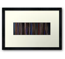 Moviebarcode: Three Colours: Blue (1993) Framed Print