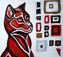 The Abstracted Fox by Lynnette Shelley
