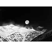 Moon over the Alps Photographic Print