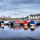 Apperley Bridge Marina by Sandra Cockayne