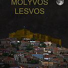 Molyvos By Night  Molyvos Lesvos Greece   by Eric Kempson