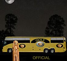 Golf world tour Scream, tour bus by Eric Kempson