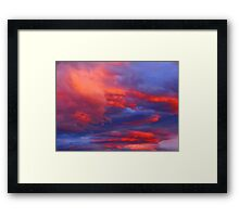 Clouds on Fire Framed Print