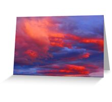 Clouds on Fire Greeting Card