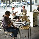 Breakfast in Lygon St by Christina Norwood