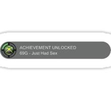 Achievement Unlocked 2: 69G - Just Had Sex Sticker