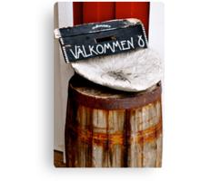 Welcome, Välkommen Canvas Print