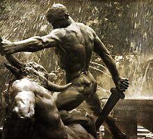 Theseus Slaying a Minotaur by garts
