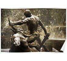 Theseus Slaying a Minotaur Poster