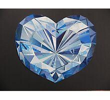 Blue diamond Photographic Print