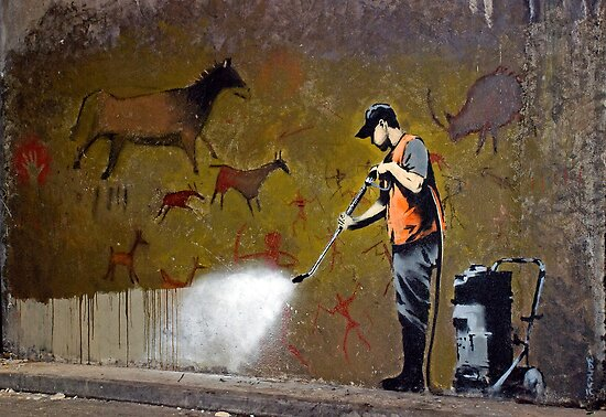 Council Worker by Banksy by Respire