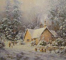 Winter Lodge, Northumberland by JoeHush