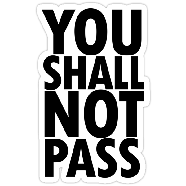 You Shall Not Pass- Gandalf by loveaj