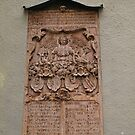 A Religous Plaque on the outside wall of St Peter's church. by Lee d'Entremont